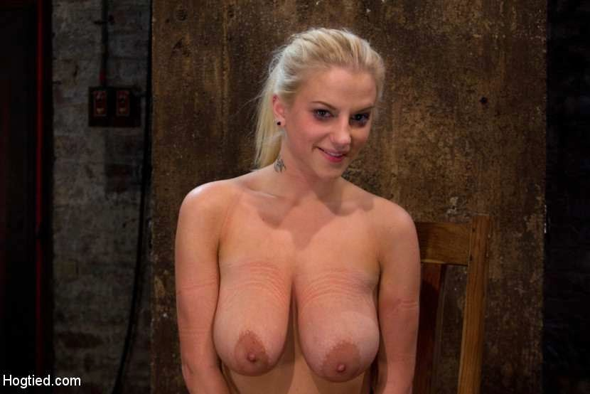 topless girl after bdsm game