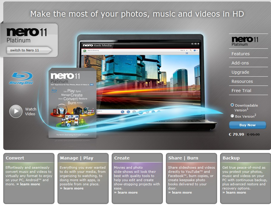 Nero Multimedia Suite HD Platinum 11.0.15800