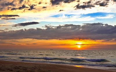 Papel de Parede Paisagem Pôr do Sol para pc 3d hd grátis sunset beach desktop wallpaper