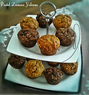 Havuçlu Tarçınlı Muffin Tarifi, Kakaolu Muffin Tarifi, Çikolata Parçacıklı Muffin