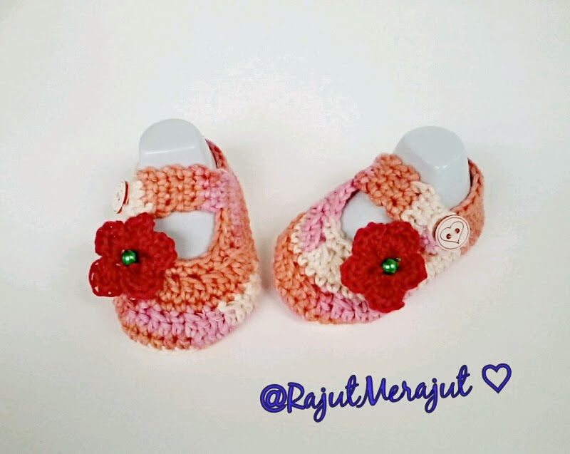 Crochet Baby Booties, Sepatu Rajutan, Sepatu Rajut untuk Bayi, Sepatu bayi rajut