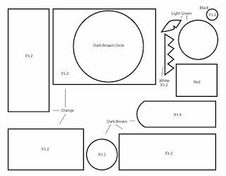 How to Make a Domo Pumpkin plushie template tutorial