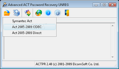 free Download Advanced ACT Password Recovery