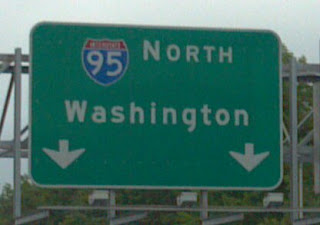 interstate 95 sign that says washington
