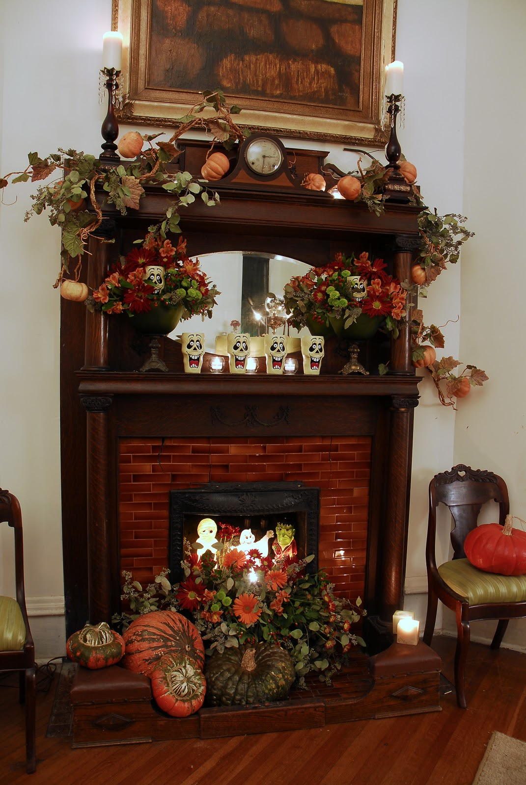 fall mantle arrangement photography - photo #39