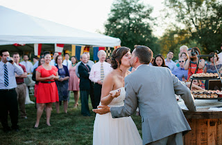 Kiss after some cake!  Patricia Stimac, Seattle Wedding Officiant