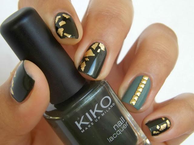 Nail art avec des feuilles d'or