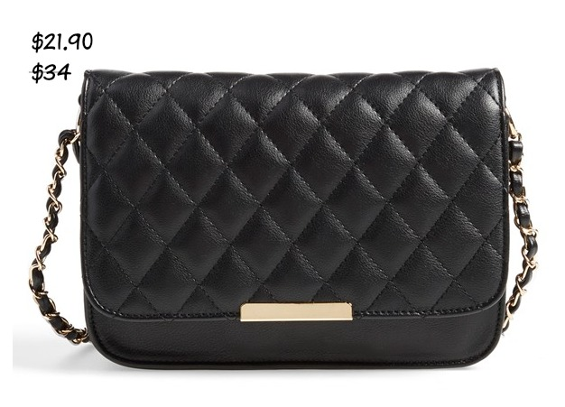 Fall fashion - Lulu Quilted Vegan Leather Crossbody Bag $21.90