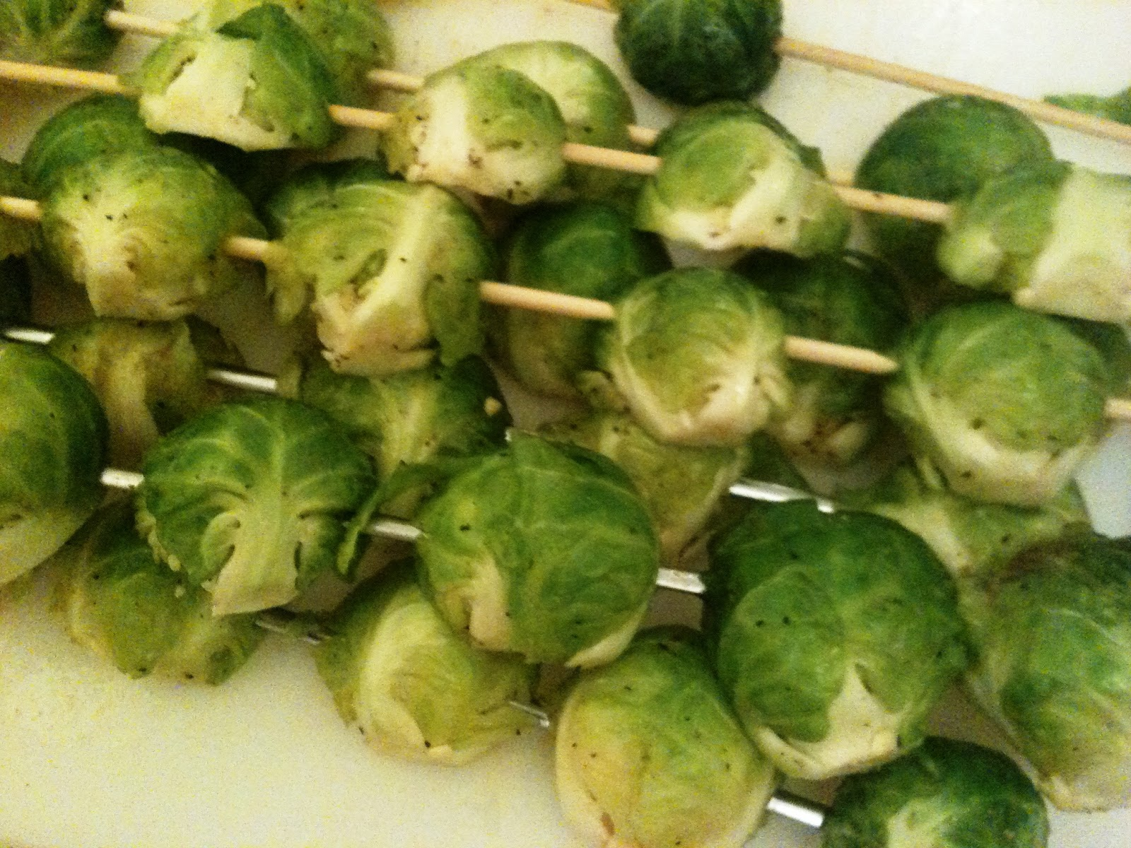 how to cut brussel sprouts for grilling