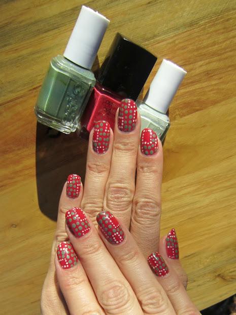 concrete and nail polish dotting