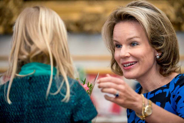 Queen Mathilde Hosted An Event At The Royal Palace