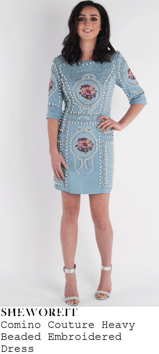 vicky-pattison-pale-blue-pearl-bead-embellished-half-sleeve-mini-dress-paris