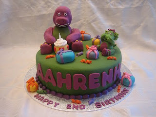 Barney Birthday Cake Design
