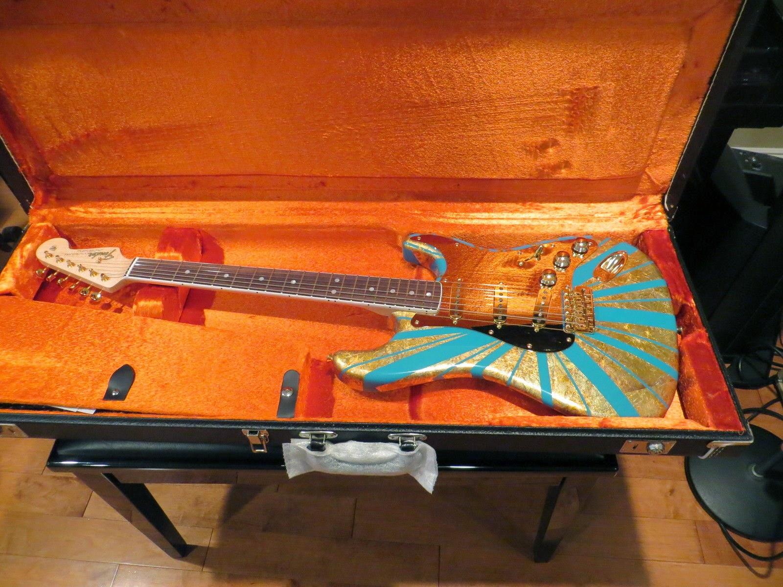 Fender CS Masterbuilt 65 NOS Taos Turquiose & Gold Leaf