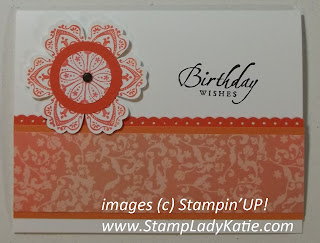 Card made with Stampin'UP!'s Mixed Bunch stamp set and the Blossom Punch