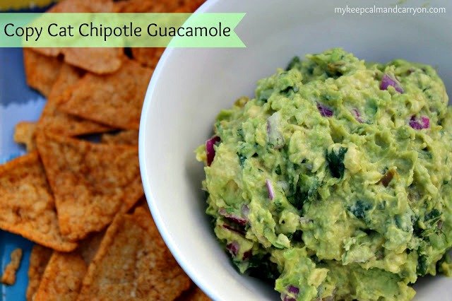 KEEP CALM AND CARRY ON: COPY CAT CHIPOTLE GUACAMOLE...SERIOUSLY.