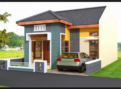 perpaduan warna cat rumah bagian luar