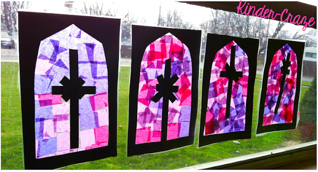 "pretty ""stained glass"" windows for Advent"