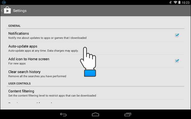 Mematikan update otomatis android -settings