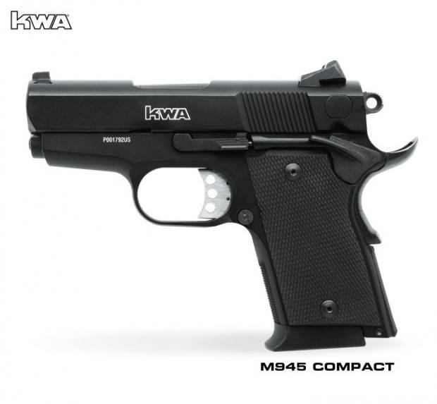 KWA 945 Compact, Airsoft Gas Blowback Guns, Airsoft GBB Pistol, KWA Prototype, Pyramyd Airsoft Blog, Bakholdin Photography, Airsoft Squared Social Network,