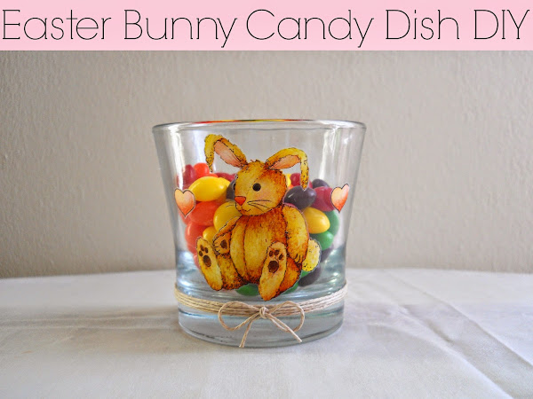 Easter Bunny Candy Dish DIY