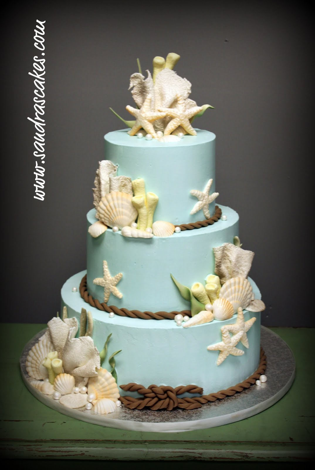 beach themed wedding cakes. Black Bedroom Furniture Sets. Home Design Ideas