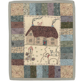 Lynette Anderson Designs ANVIL COTTAGE WALLQUILT Stitchery Quilt Pattern