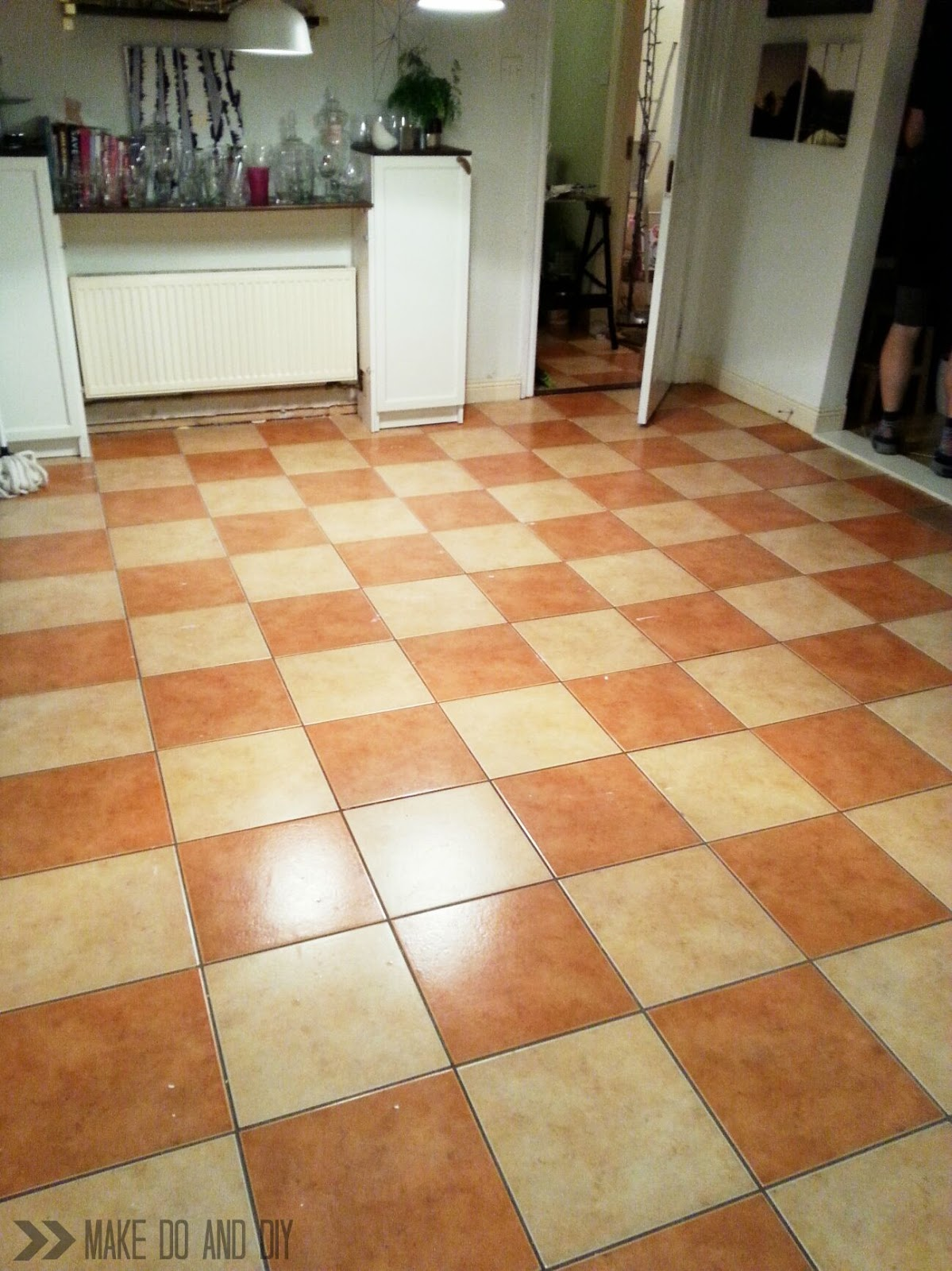 Painted tile floor no really make do and diy how to paint a tile floor and what you should think about before you do dailygadgetfo Image collections