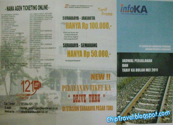 kami baru ambil brosur di salah satu stasiun kereta api di Surabaya