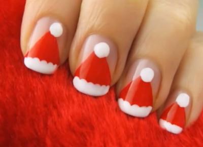 uñas decoradas para navidad