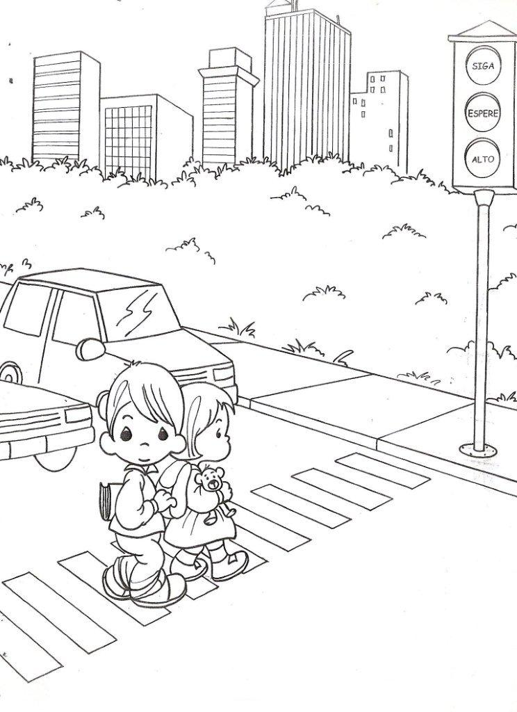 drawing precious moments with traffic light coloring