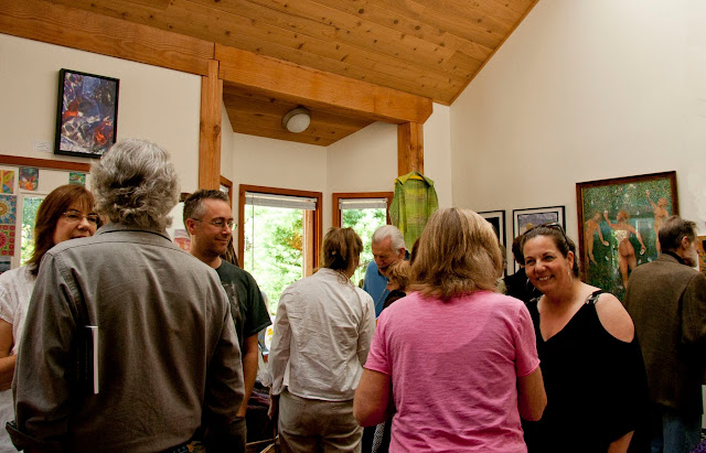 Opening reception, Saturna Artists Show, Insight Gallery, Galiano Island, BC