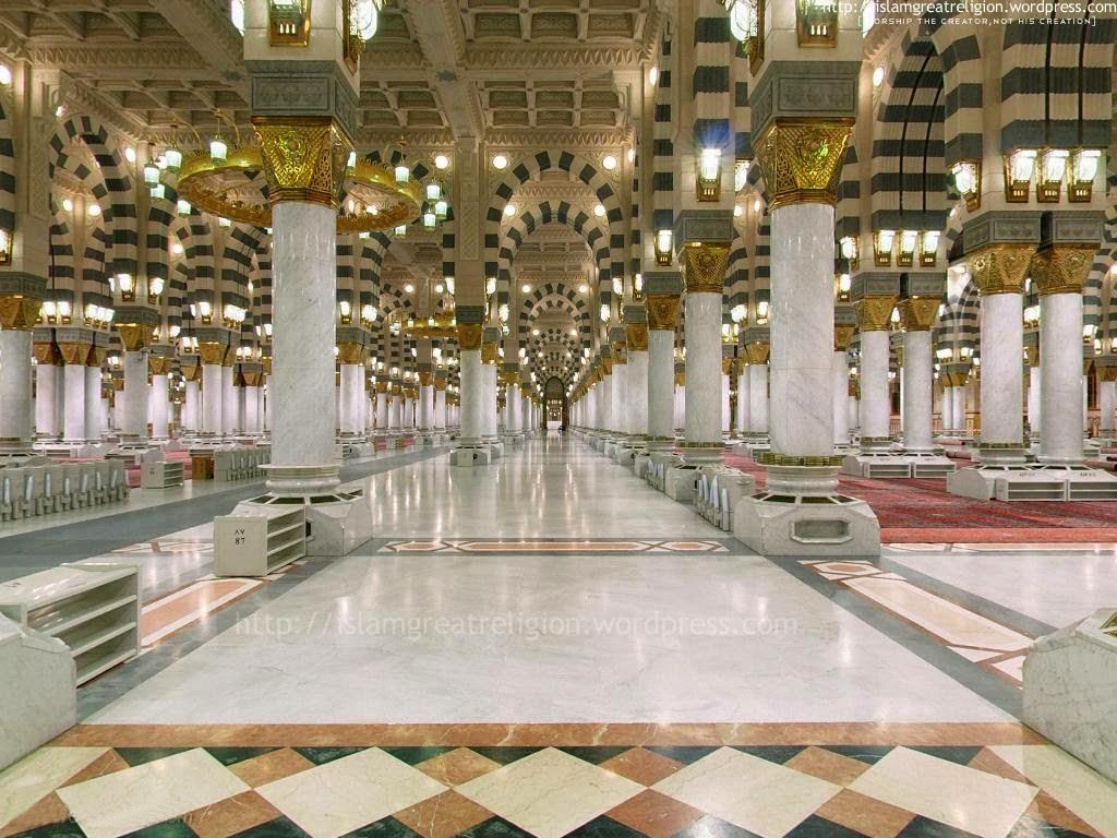 Allinallwalls madina munawara roza e rasool medina photos masjid nabawi pictures masjid - Intiriror picture ...