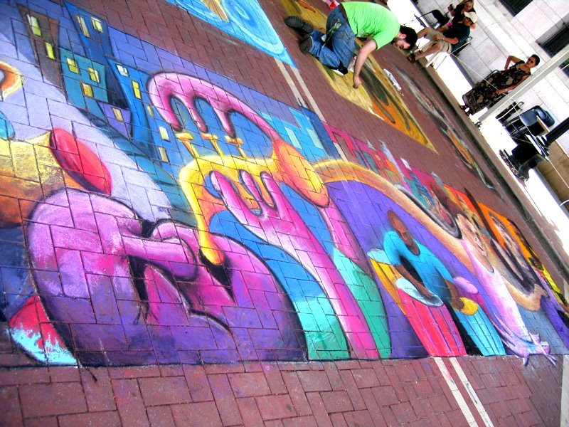 Shawn mccann street painting 3d wall murals regulare for Mural work using m seal