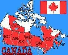 besuchte Provinzen in Canada