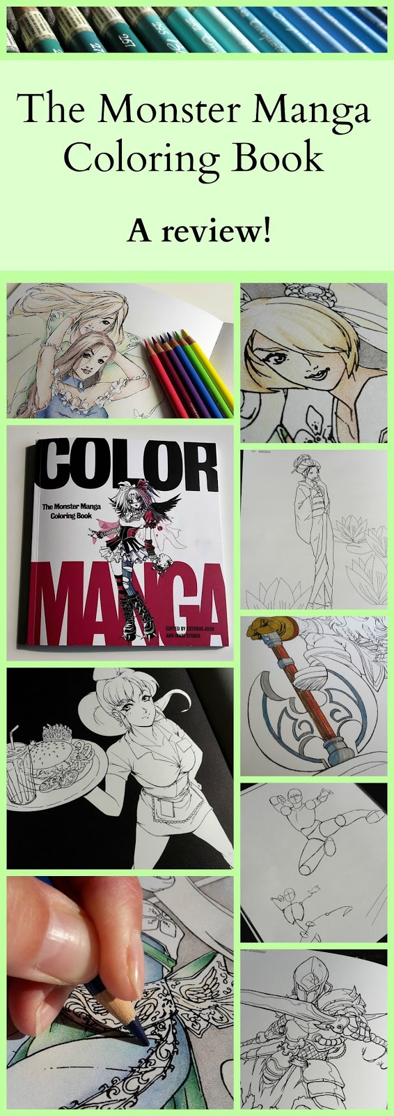 the monster manga coloring book a review - Manga Coloring Book