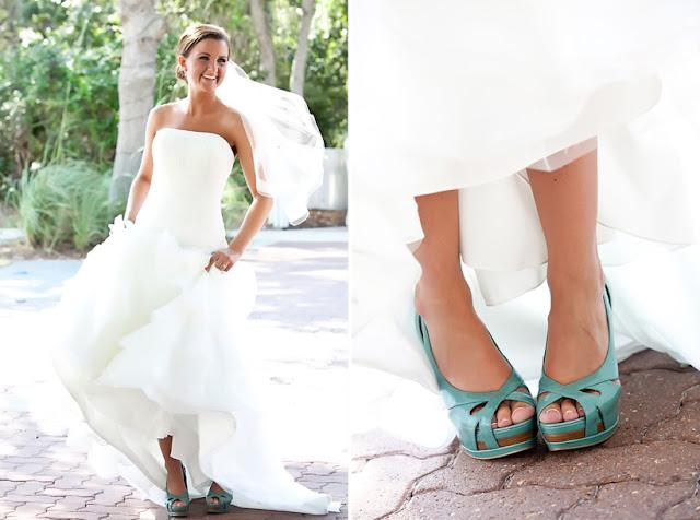 Increíbles zapatos de novias | Colección glamour azul