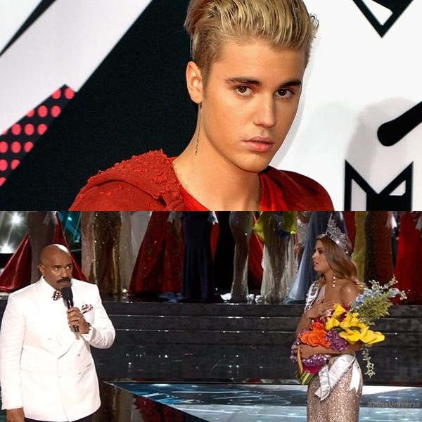 Justin Bieber se burló del presentador del Miss Universo 2015