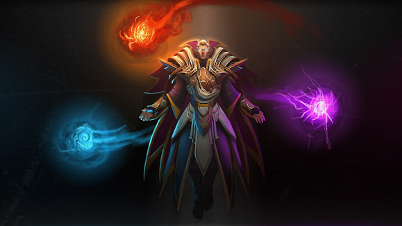invoker dota 2 set game hd wallpaper
