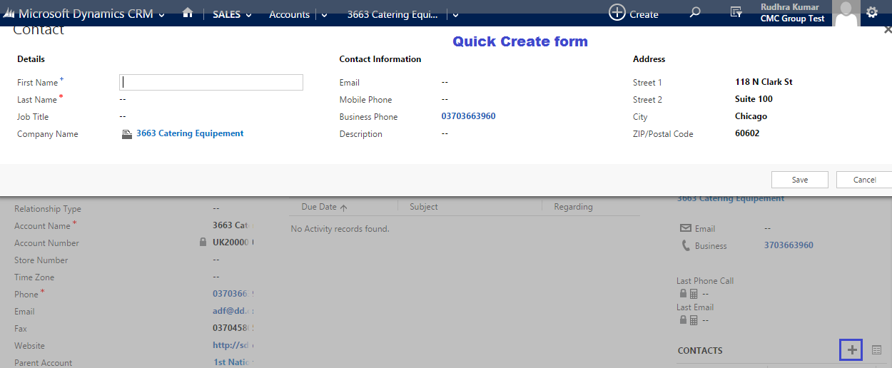 Tech World: Remove Quick Create form and Replace in to Main form ...