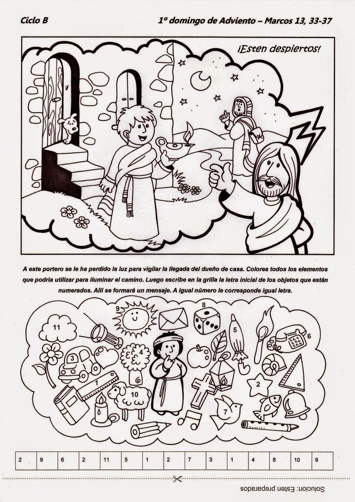 Educar con Jesús: Velad, despertad Mc 13,33-37 (ADB1-14)