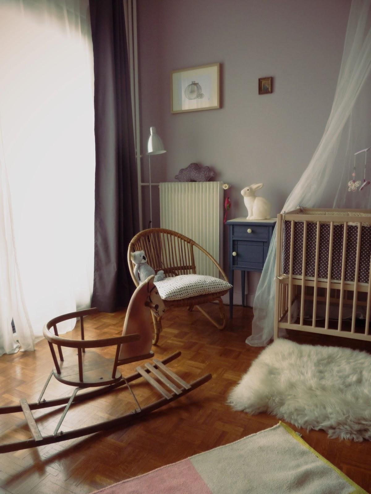 Vert poussin: chambre bébé