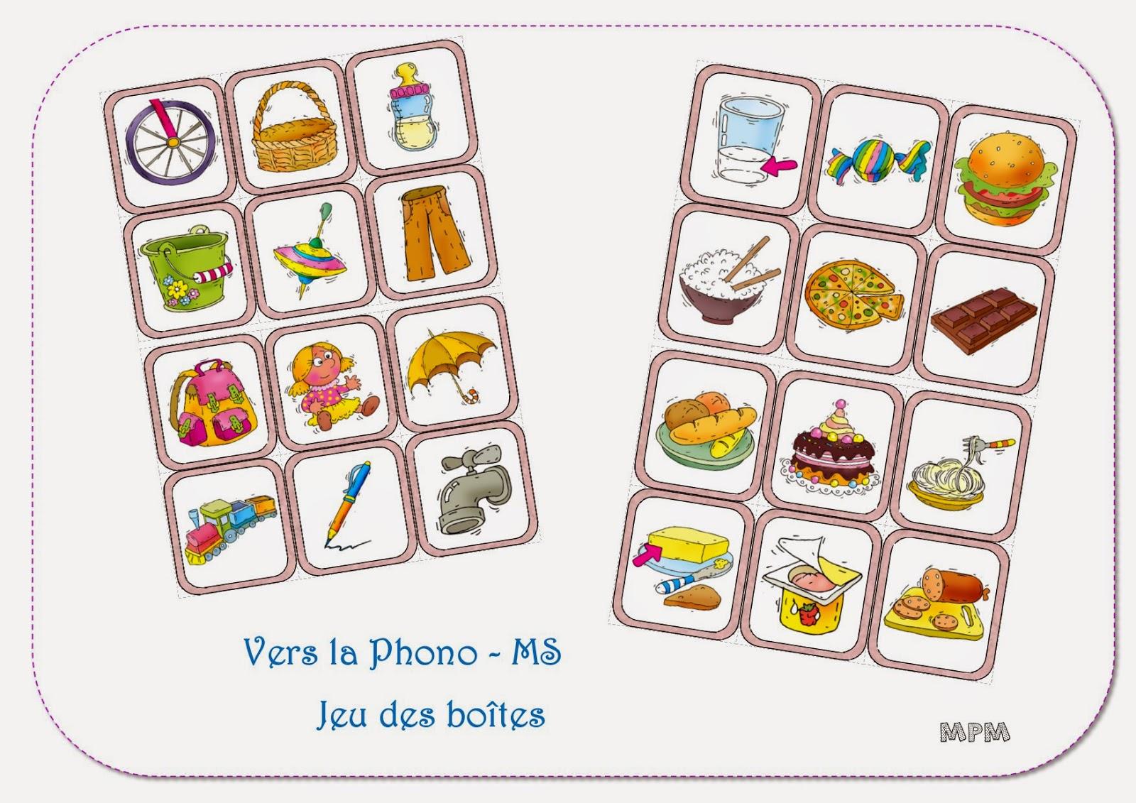 Phonolgie MS - imagier des aliments et objets