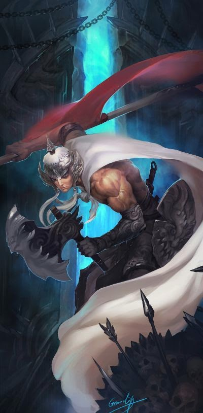 Shengyuan Lee grandialee illustrations fantasy anime Axe