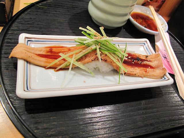 Tsukiji Fish market tokyo sushizanmai sushi zanmai anago