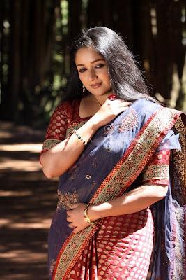 Kavya Madhavan Hot Spicy in Saree Photos