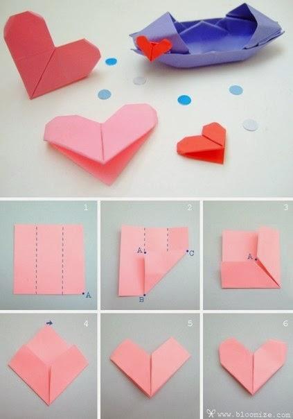 Как сделать закладку из бумаги в форме сердца видео