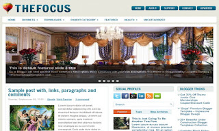 TheFocus 3 Column Blogger Template