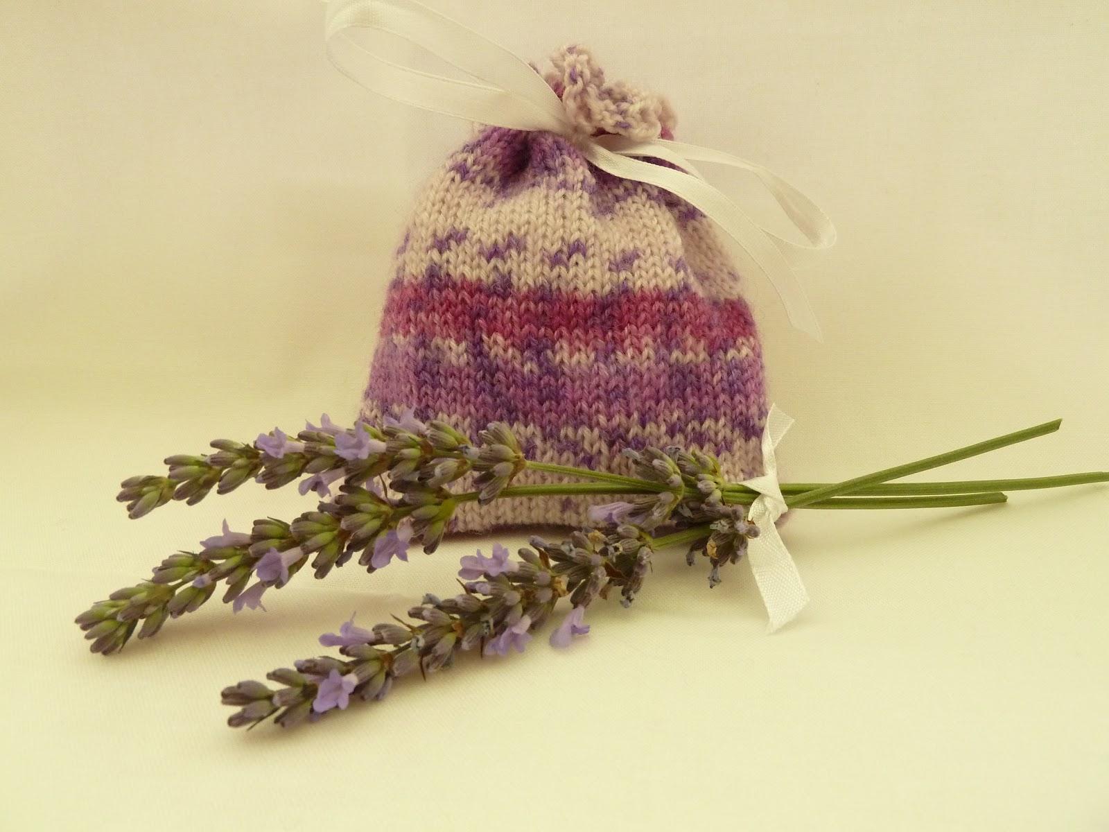 Knitting Pattern Lavender Bag : Judi Knits and Sews: Knitted Lavender Bag