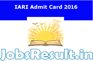 IARI Admit Card 2016